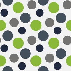 Vector Pattern with green ,grey polka dots
