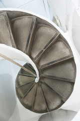Old Spiral Staircase with rope handrail