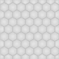 Hexagon geometric seamless pattern. Vector