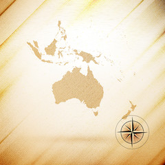 Australia map, wooden design background, vector illustration