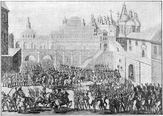 Entry of the French Army in Moscow. French invasion of Russia