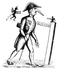 Caricature 1848, Klemens von Metternich