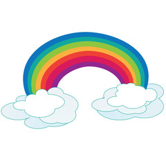 Printed kitchen splashbacks Fairytale World Rainbow