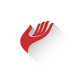 Vector logo hand, flat design