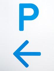 Close - up Car parking traffic sign