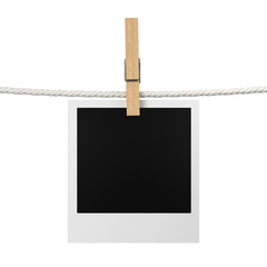 Photo hanging on a rope