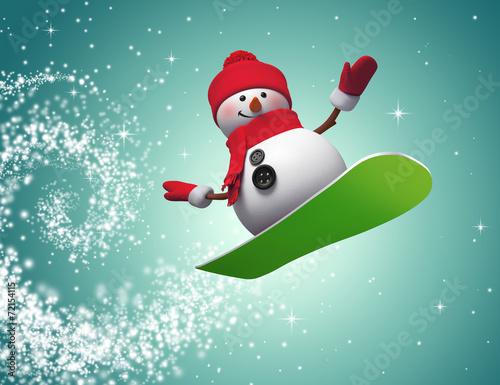 Снеговик на сноуборде  № 3290115 загрузить