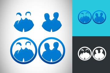 success people businessman vector logo