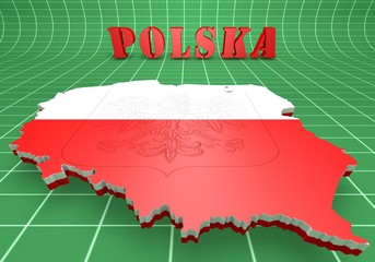 Map illustration of Poland