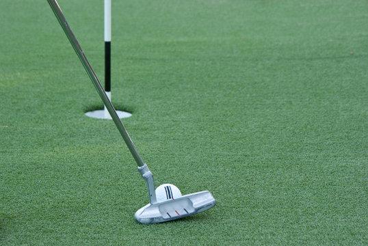Golfschläger close up