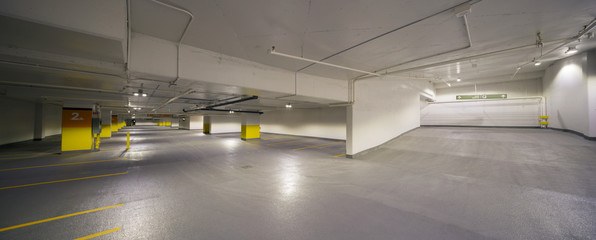 Fototapeta Underground parking pannorama
