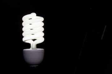 light bulb on background