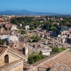 Fotomurales - Ariel view of Roman Forum..