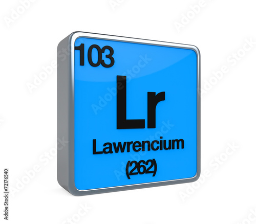a study on the element lawrencium