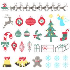 Retro Christmas Elements
