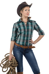 Photo of cowgirl with the twine