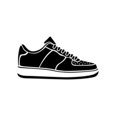 Running shoe icon SNEAKERS vector sport active icon black
