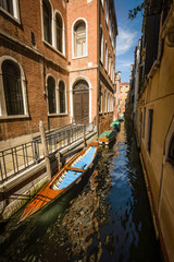 View on the canal in Venice,Italy