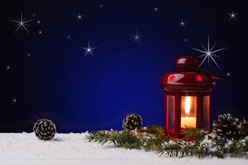 Christmas Lanterns with stars