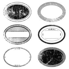 Grunge Oval Stamp Set