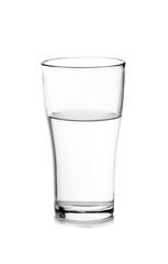 water in glass. Isolated on white background