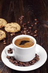 Coffee and sweet cookies