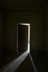 old dark door