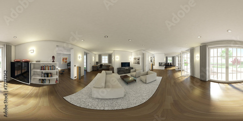Kuche Wohnraum 3d 360 Stock Photo And Royalty Free Images On