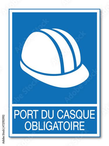 Port du casque obligatoire