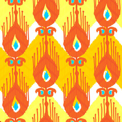 Ikat fabric pattern