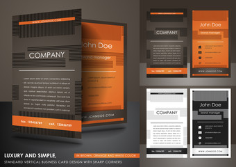 Simple vertical business card design