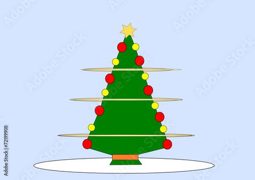 geschm ckter weihnachtsbaum stockfotos und lizenzfreie vektoren auf bild 72199908. Black Bedroom Furniture Sets. Home Design Ideas