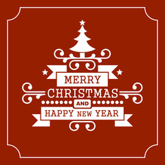 Christmas Retro Typographic Background. Vector