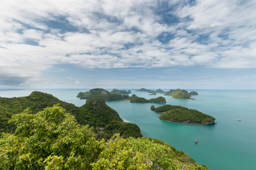 View point of Ang Thong Islands national park