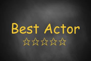 black chalkboard best actor golden rating stars