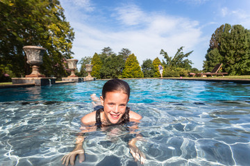 Young Girl Swimming Pool nSummer