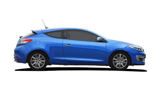 blue sport coupe