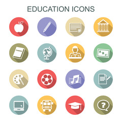 education long shadow icons