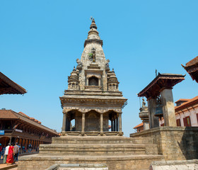 Batsala Temple and Taleju bell on Durbar square of Bhaktapur