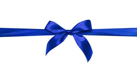 Blue gift ribbon