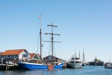 Small harbor Dutch island Texel