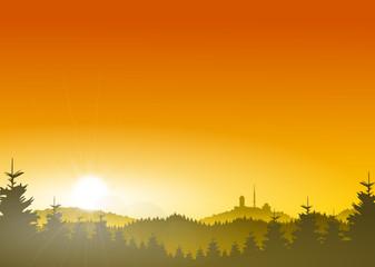 Brocken Harz Sonne
