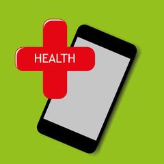 vector smart phone health illustration