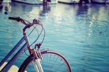 vintage bicycle by the sea in Alghero