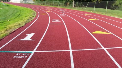 Outdoor running track