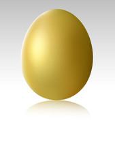 Single gold chicken egg