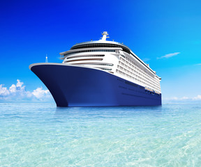 3D Image of Cruise ship