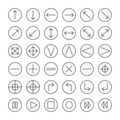 Vector thin icons set for web and mobile. Line simple arrows.