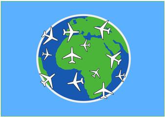Zunahme an Flugverkehr
