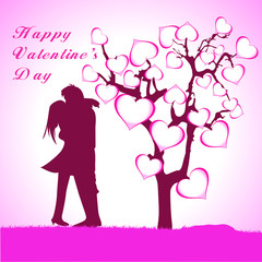 Happy Valentine's Day lettering Greeting Card o
